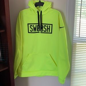 NIKE SWOOSH HIGHLIGHTER YELLOW HOODIE